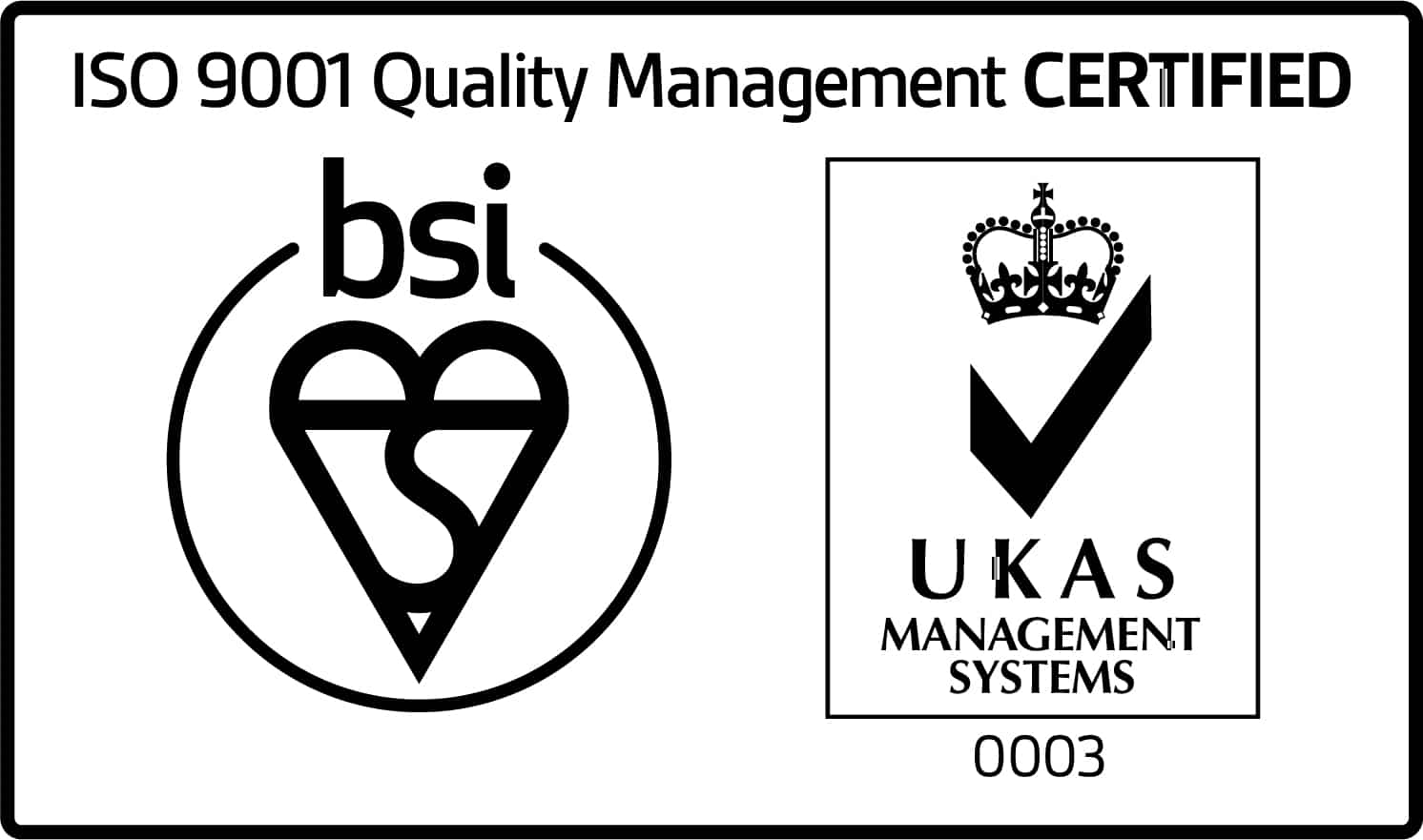 ISO 9001 Quality Management Certified Logo